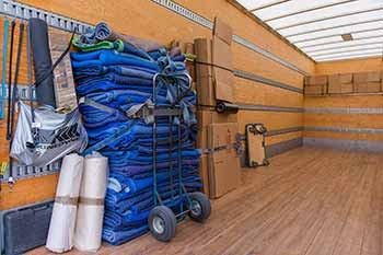 Moving Company in Edmonton - Clean Truck with Moving Supplies
