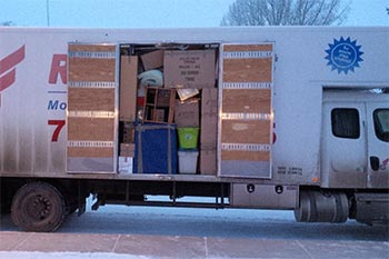 Finished packing and loading for a winter move to British Columbia.