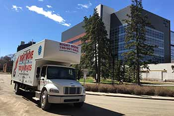 Another beautiful moving day at the University of Alberta.